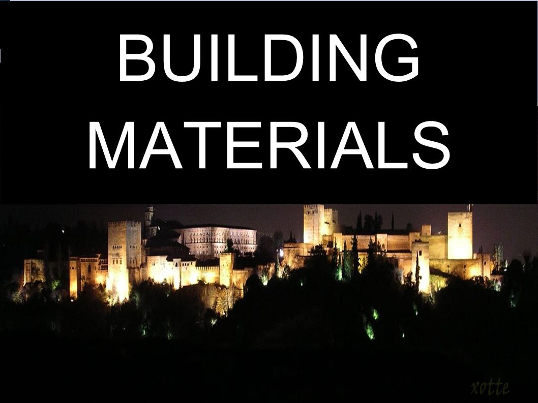 OTHER MATERIALS Metals: the most common are: -Steel: we use it in supports in reinforced concrete, overcoast, piers...