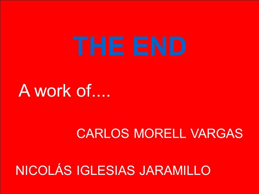 THE END A work of.... NICOLÁS IGLESIAS JARAMILLO CARLOS MORELL VARGAS