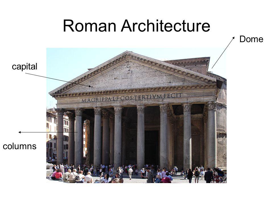 Roman Architecture capital columns Dome