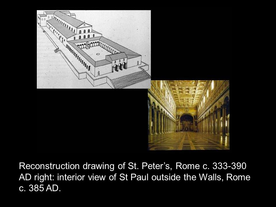 Reconstruction drawing of St.Peter's, Rome c.