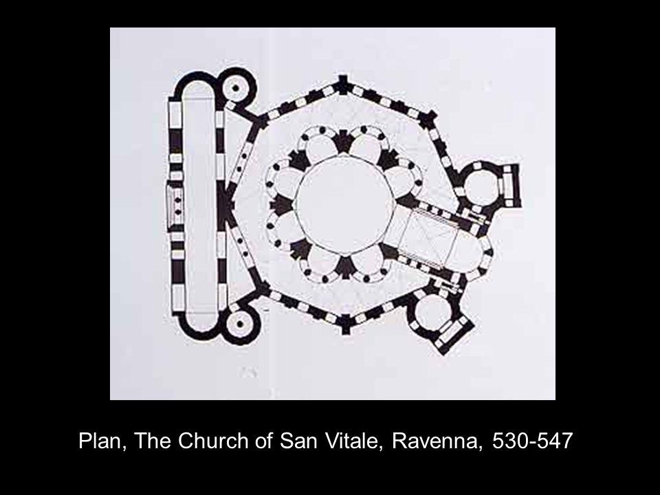 Plan, The Church of San Vitale, Ravenna, 530-547