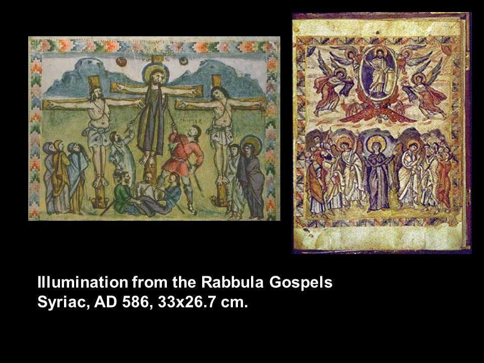 Illumination from the Rabbula Gospels Syriac, AD 586, 33x26.7 cm.