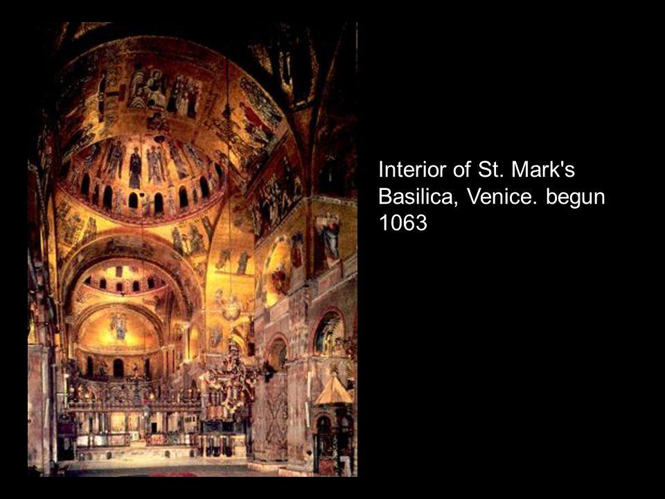 Interior of St. Mark s Basilica, Venice. begun 1063