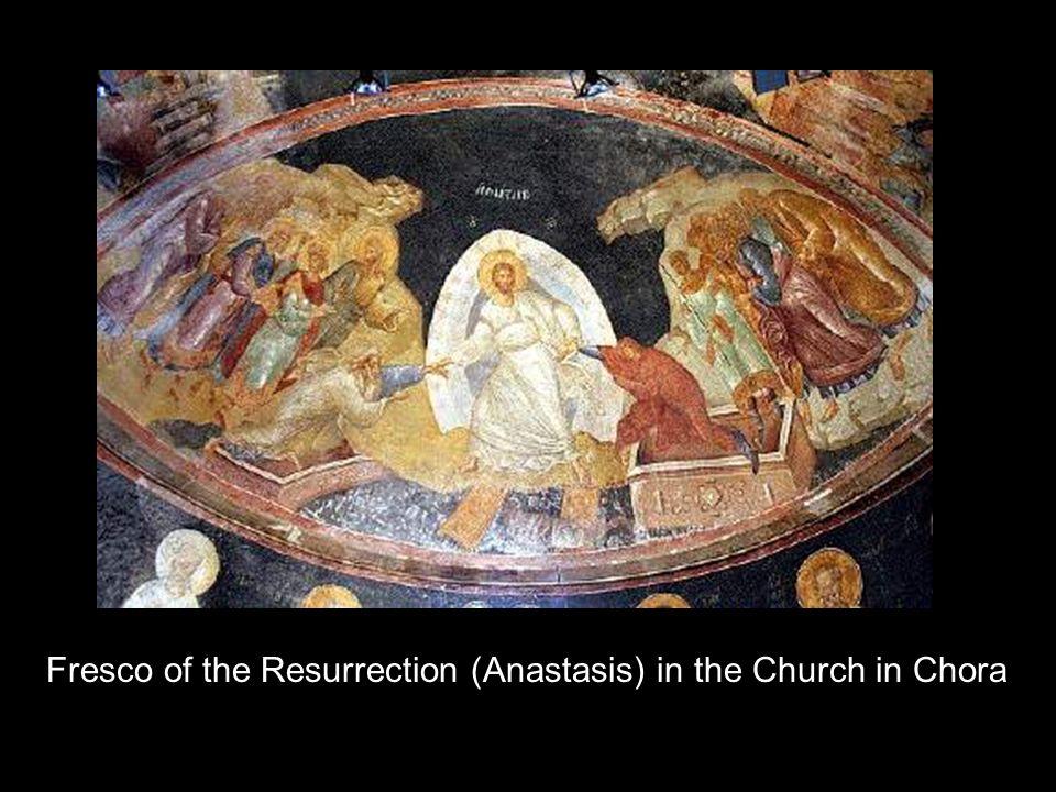Fresco of the Resurrection (Anastasis) in the Church in Chora