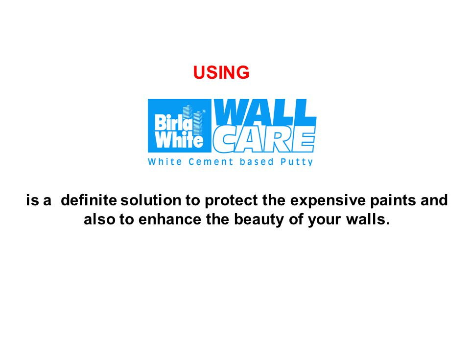 WHAT IS WALL CARE PUTTY.