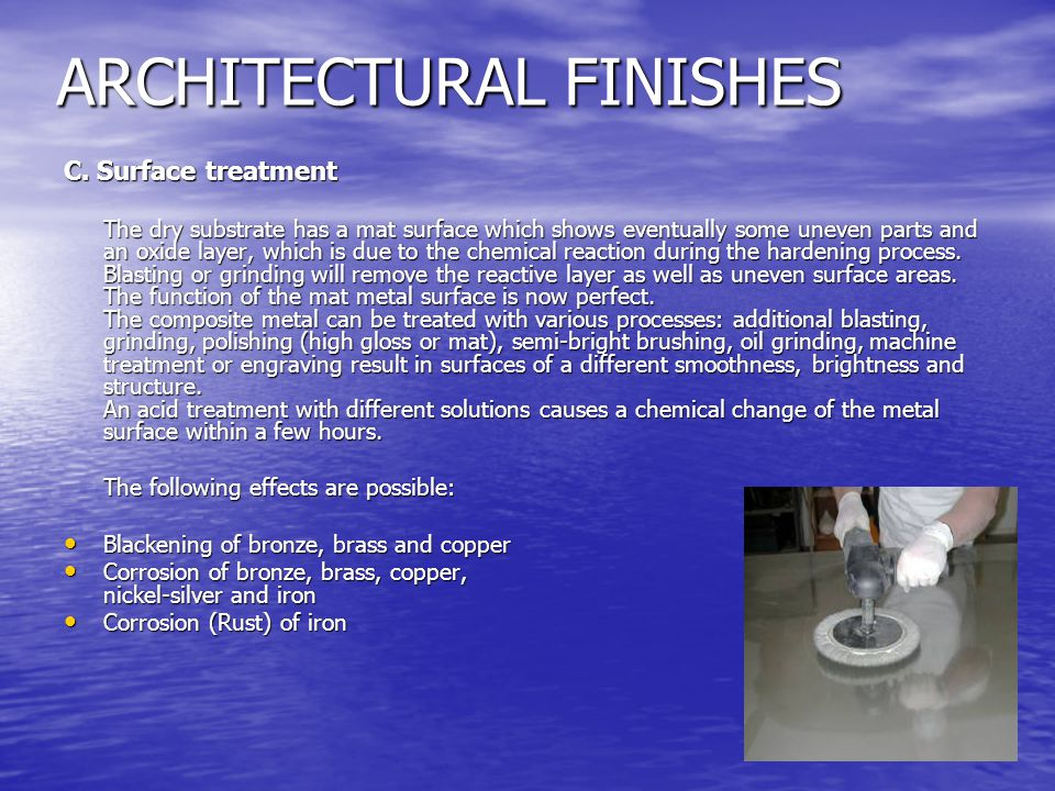ARCHITECTURAL FINISHES C.