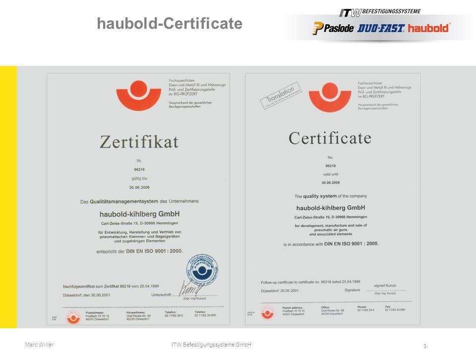 Marc Willer ITW Befestigungssysteme GmbH 3 haubold-Certificate