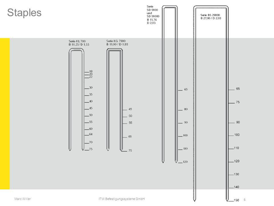 Marc Willer ITW Befestigungssysteme GmbH 6 Staples