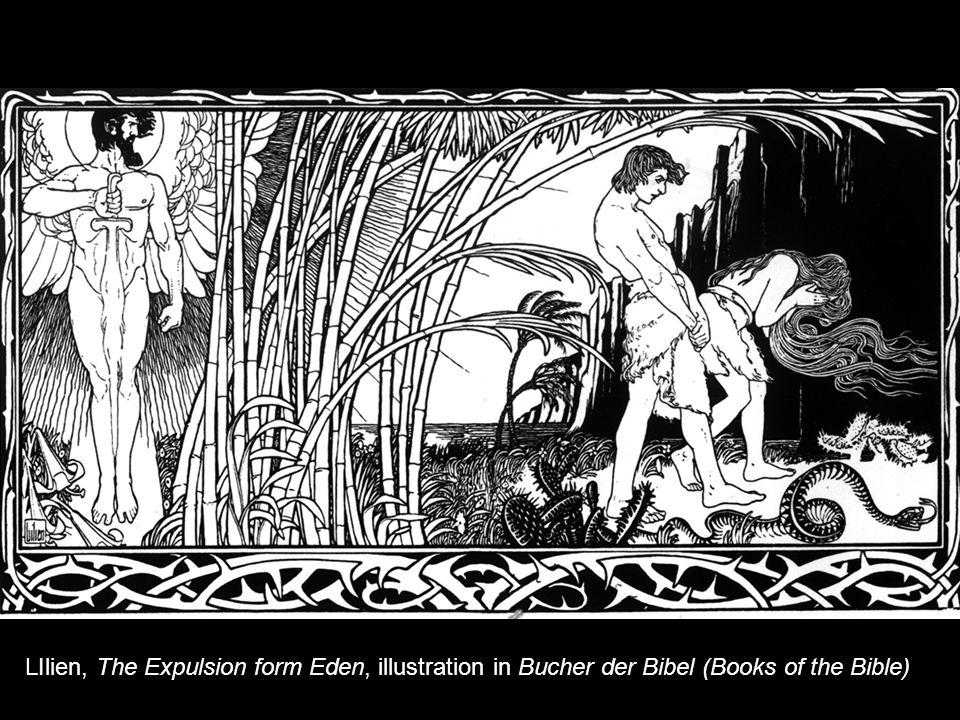 LIlien, The Expulsion form Eden, illustration in Bucher der Bibel (Books of the Bible)