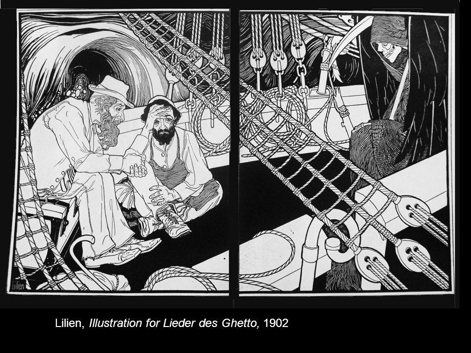 Lilien, Illustration for Lieder des Ghetto, 1902