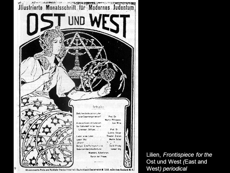 Lilien, Frontispiece for the Ost und West (East and West) periodical