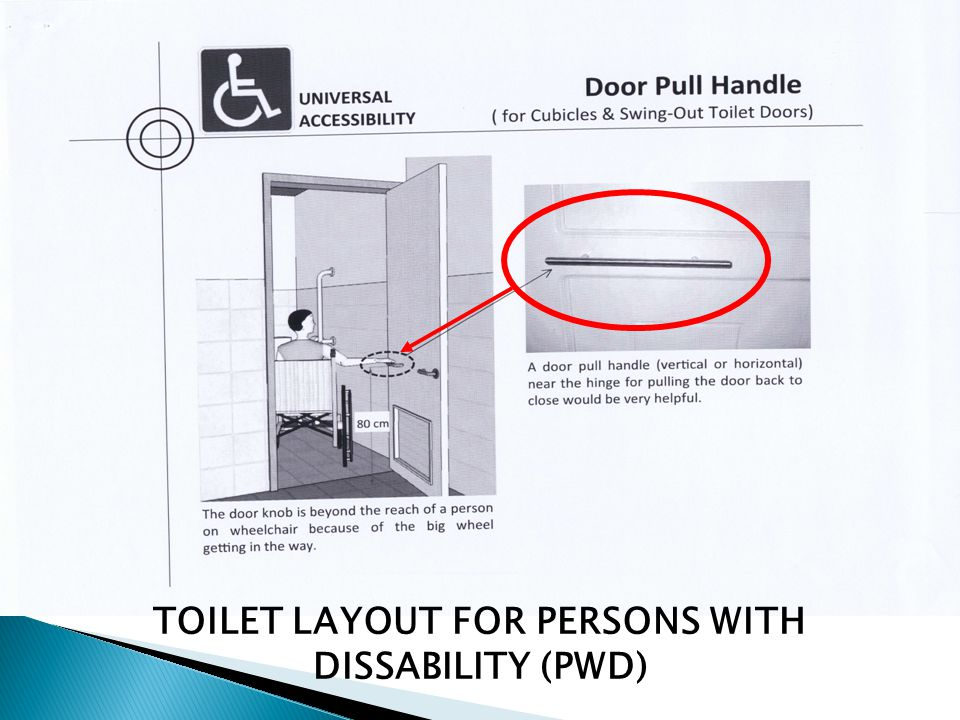 TOILET LAYOUT FOR PERSONS WITH DISSABILITY (PWD)