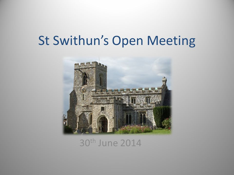 St Swithun's Open Meeting 30 th June 2014
