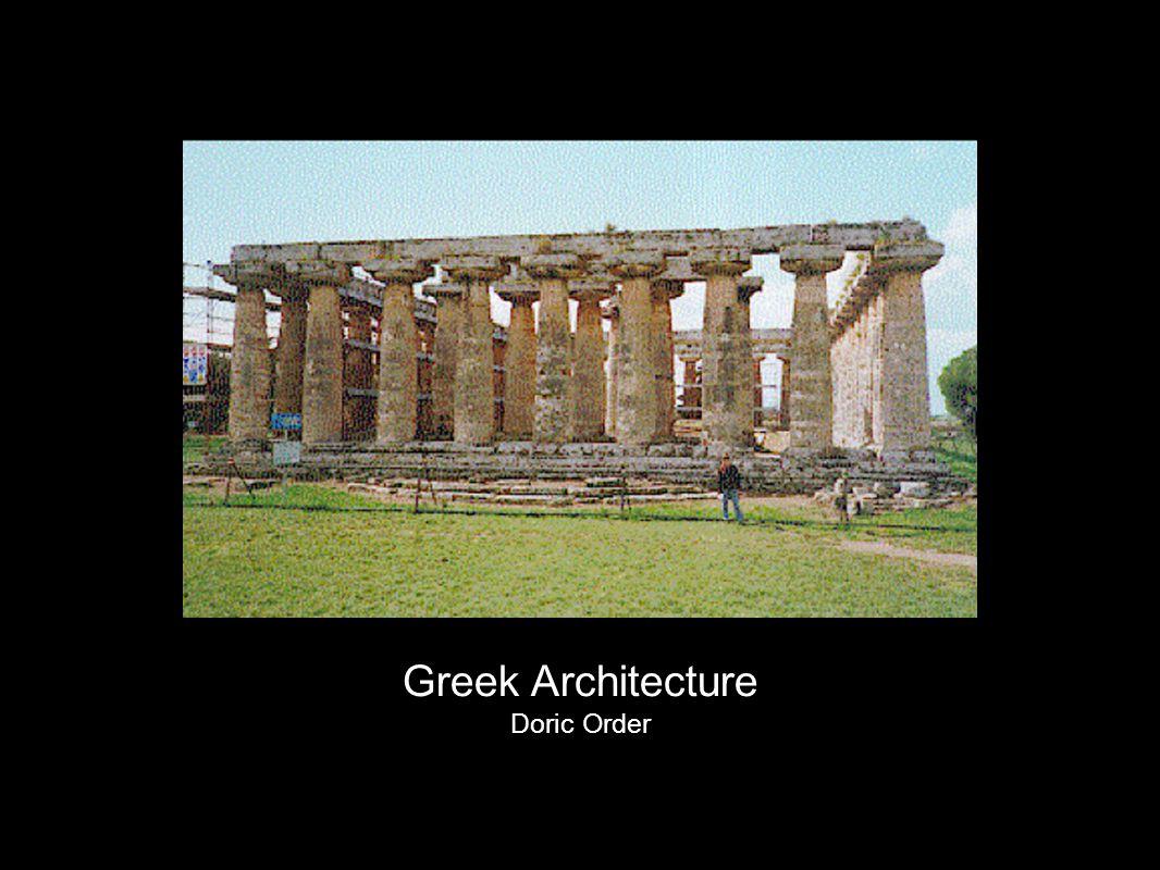 Greek Architecture Doric Order