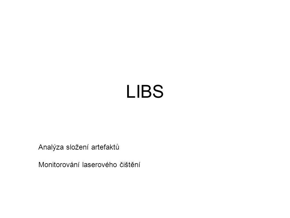 LIBS Analýza složení artefaktů Monitorování laserového čištění