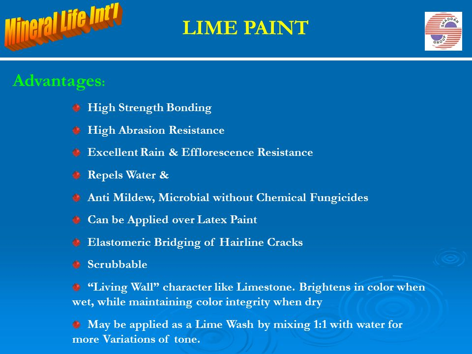 LIME PAINT High Strength Bonding High Abrasion Resistance Excellent Rain & Efflorescence Resistance Repels Water & Anti Mildew, Microbial without Chem