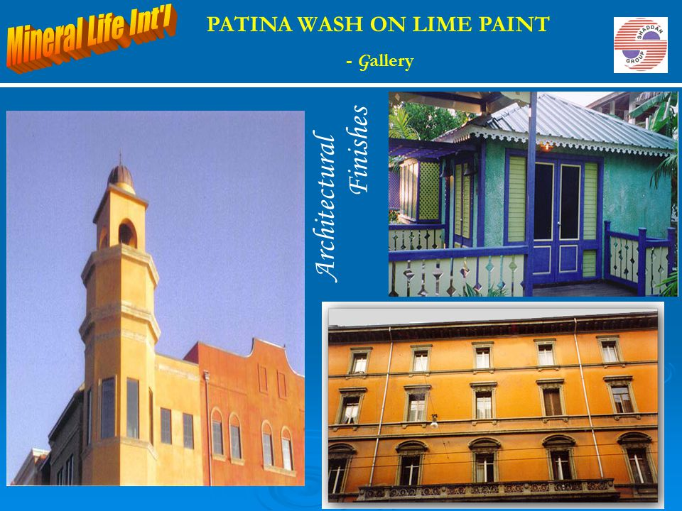 Architectural Finishes PATINA WASH ON LIME PAINT - G allery
