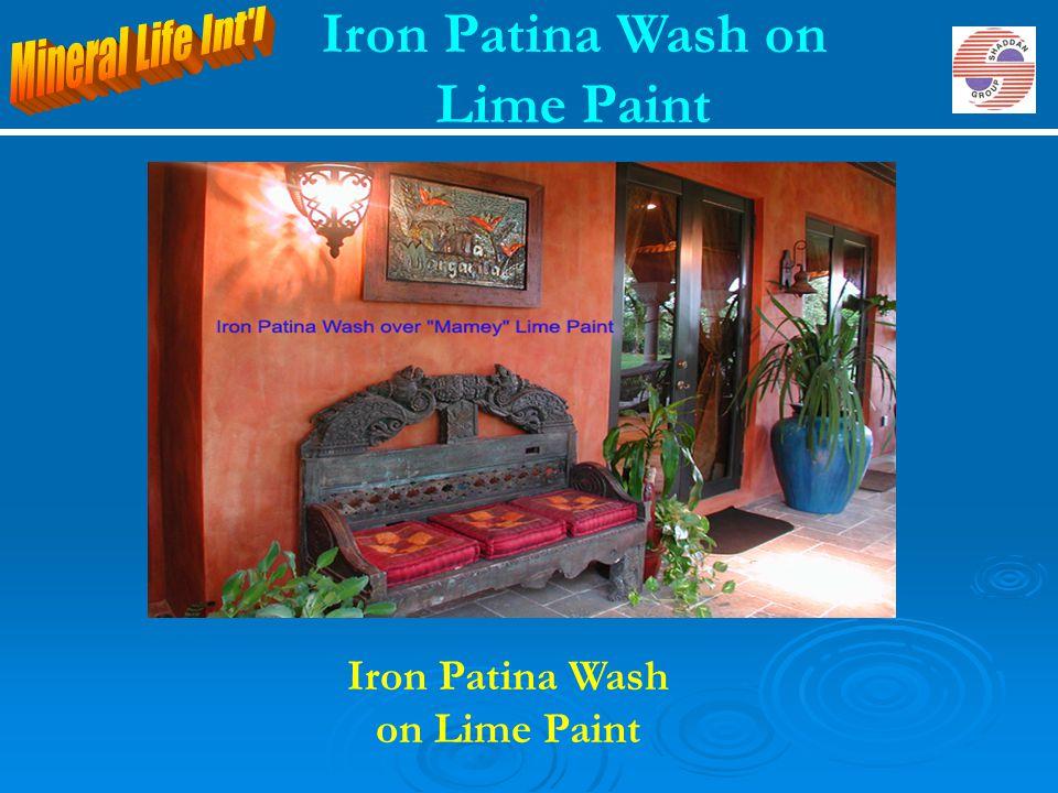 Iron Patina Wash on Lime Paint