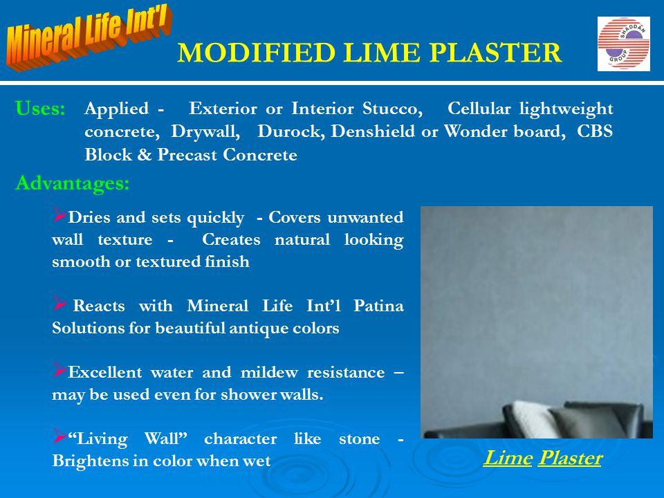 Uses: Applied - Exterior or Interior Stucco, Cellular lightweight concrete, Drywall, Durock, Denshield or Wonder board, CBS Block & Precast Concrete L