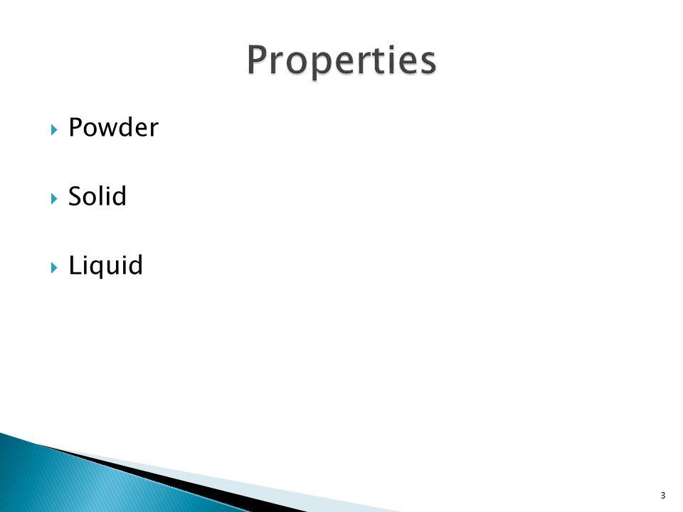  Powder  Solid  Liquid 3