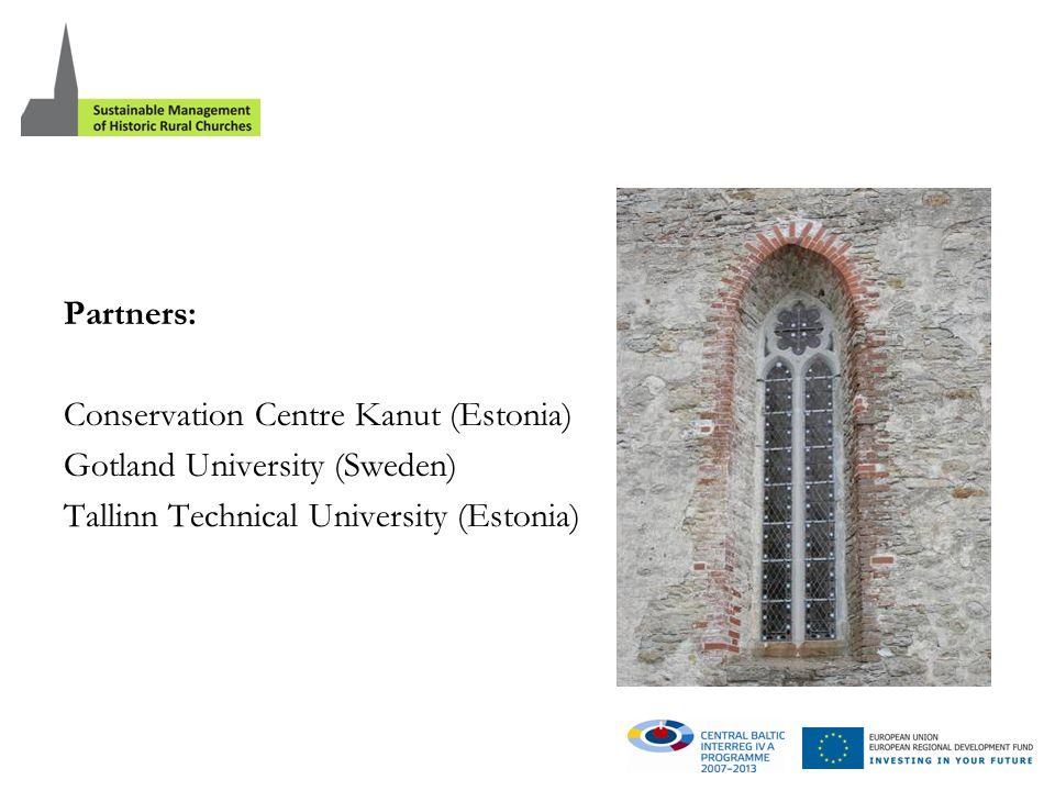 Partners: Conservation Centre Kanut (Estonia) Gotland University (Sweden) Tallinn Technical University (Estonia)