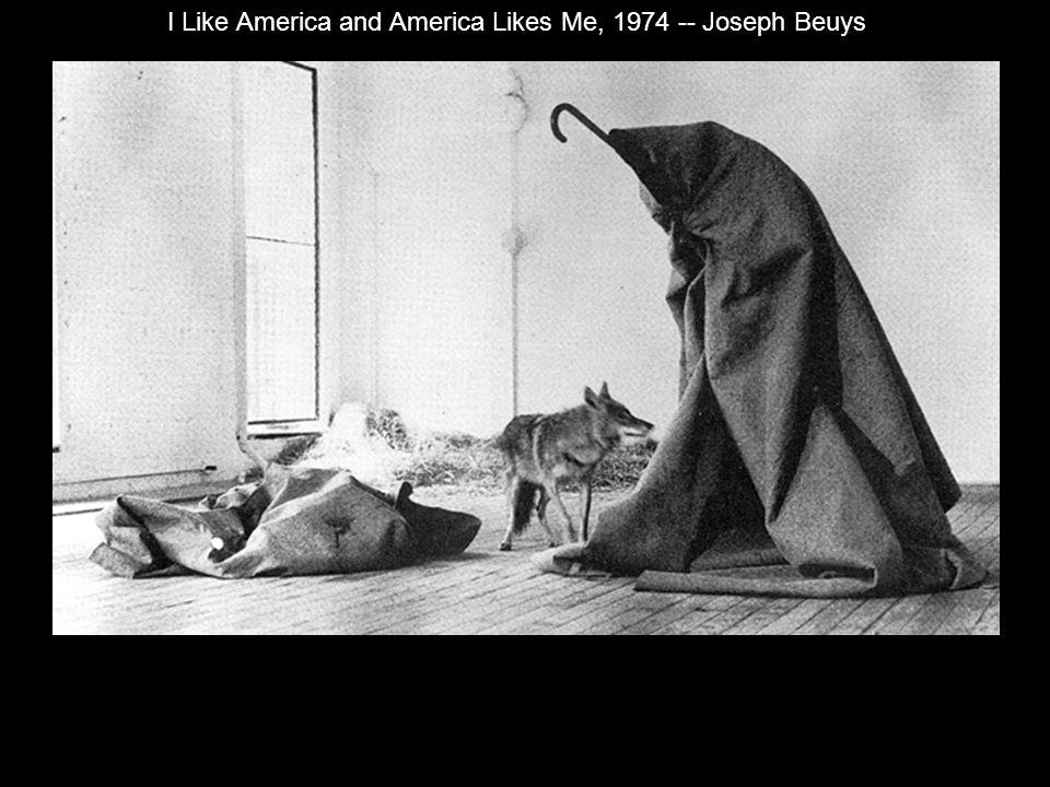I Like America and America Likes Me, 1974 -- Joseph Beuys