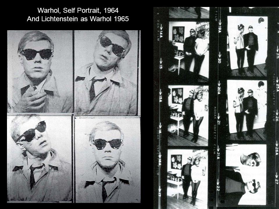 Warhol, Self Portrait, 1964 And Lichtenstein as Warhol 1965