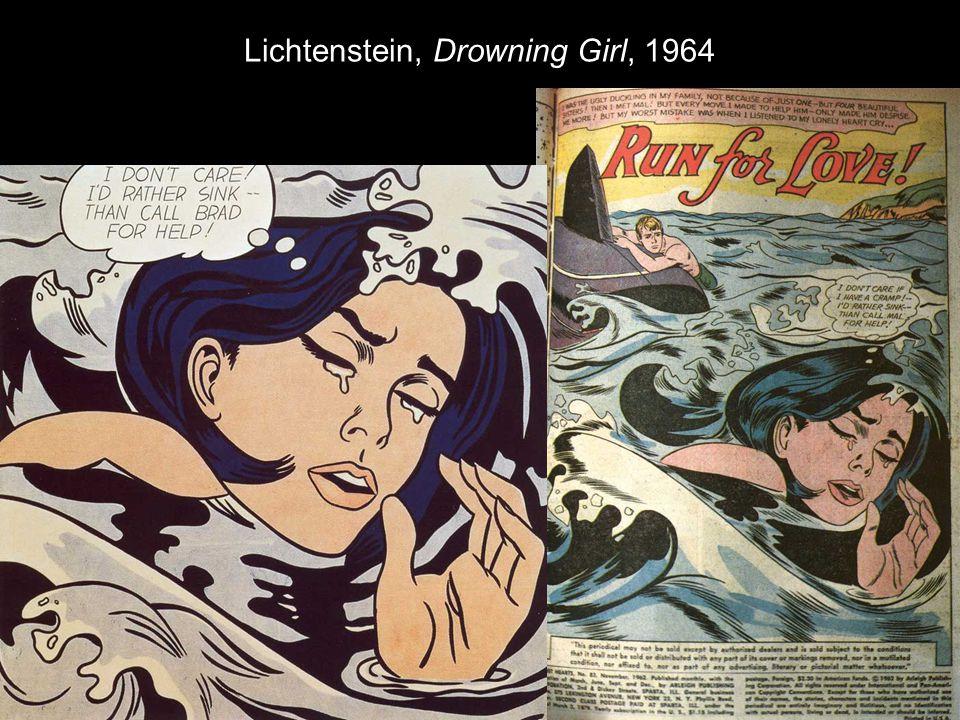 Lichtenstein, Drowning Girl, 1964