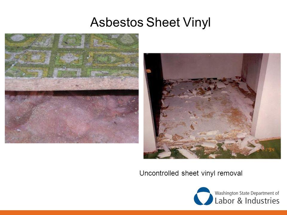 Asbestos Sheet Vinyl Uncontrolled sheet vinyl removal