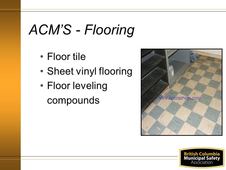 ACM'S - Flooring Floor tile Sheet vinyl flooring Floor leveling compounds