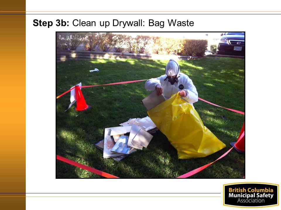 Step 3b: Clean up Drywall: Bag Waste