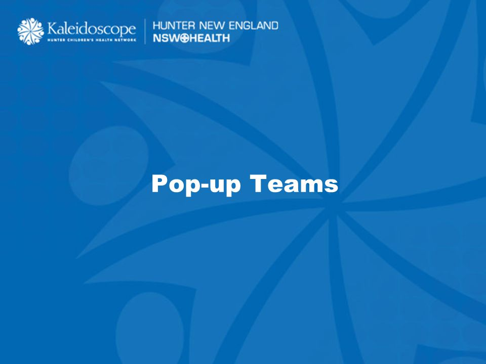 43 Pop-up Teams