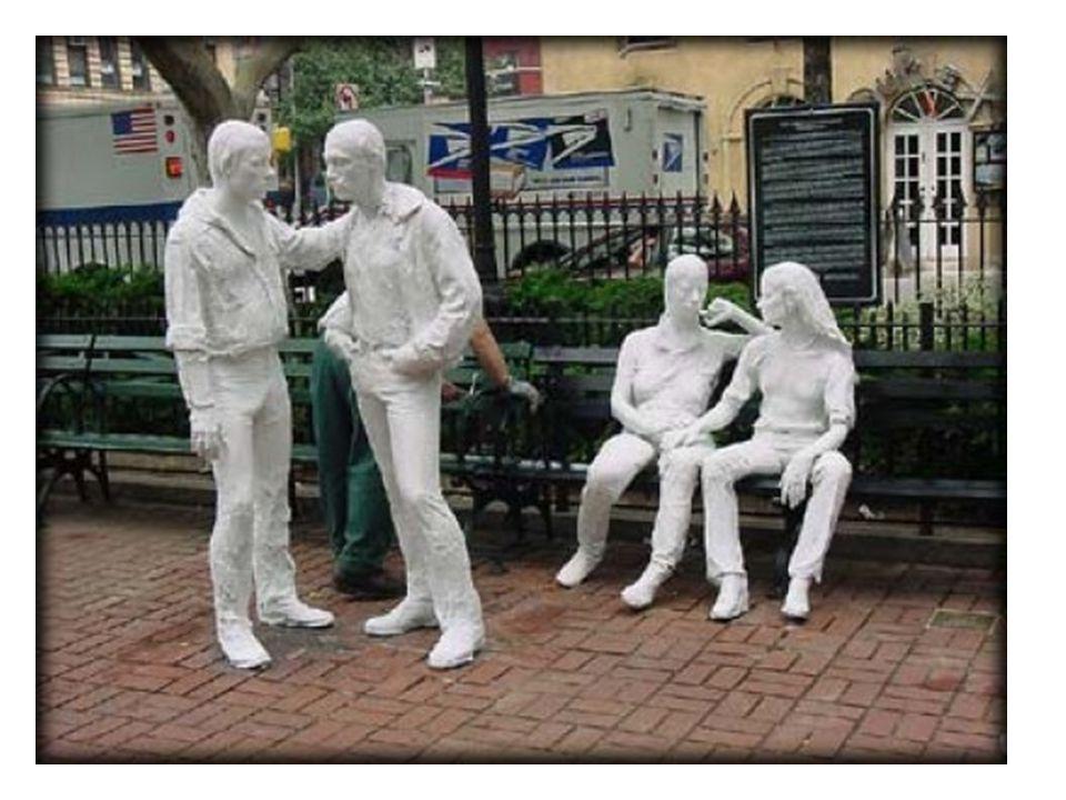 George Segal plaster sculptures of people!