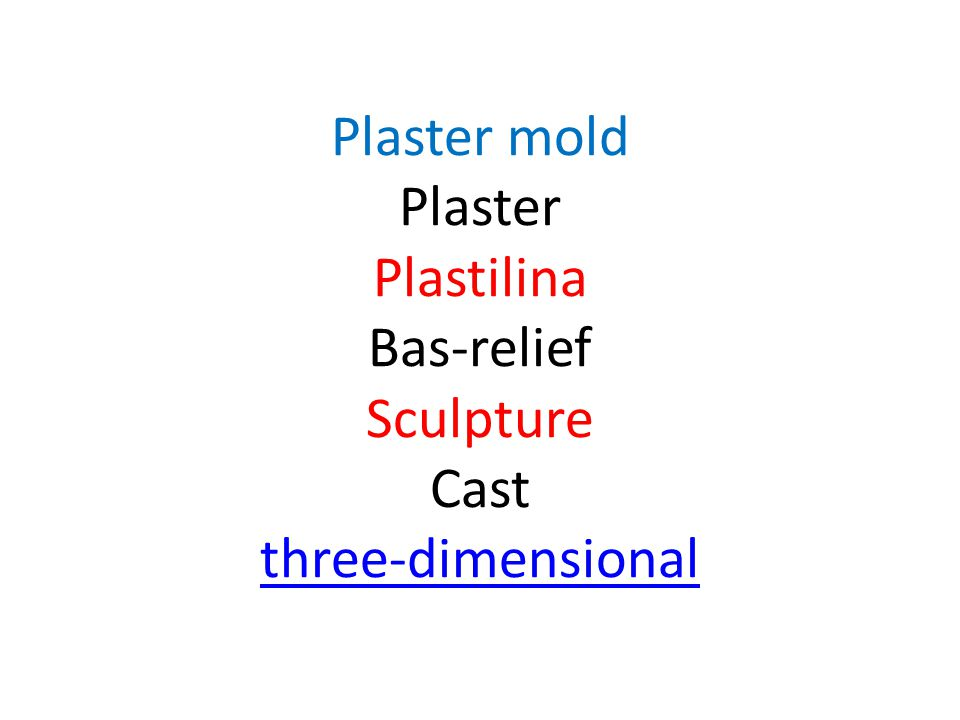 Plaster mold Plaster Plastilina Bas-relief Sculpture Cast three-dimensional three-dimensional