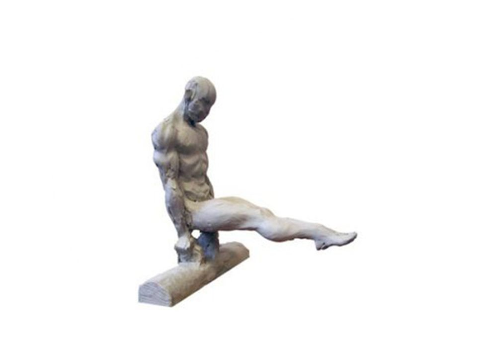The artist makes a wooden frame and puts the Plastilina sculpture in the wooden frame
