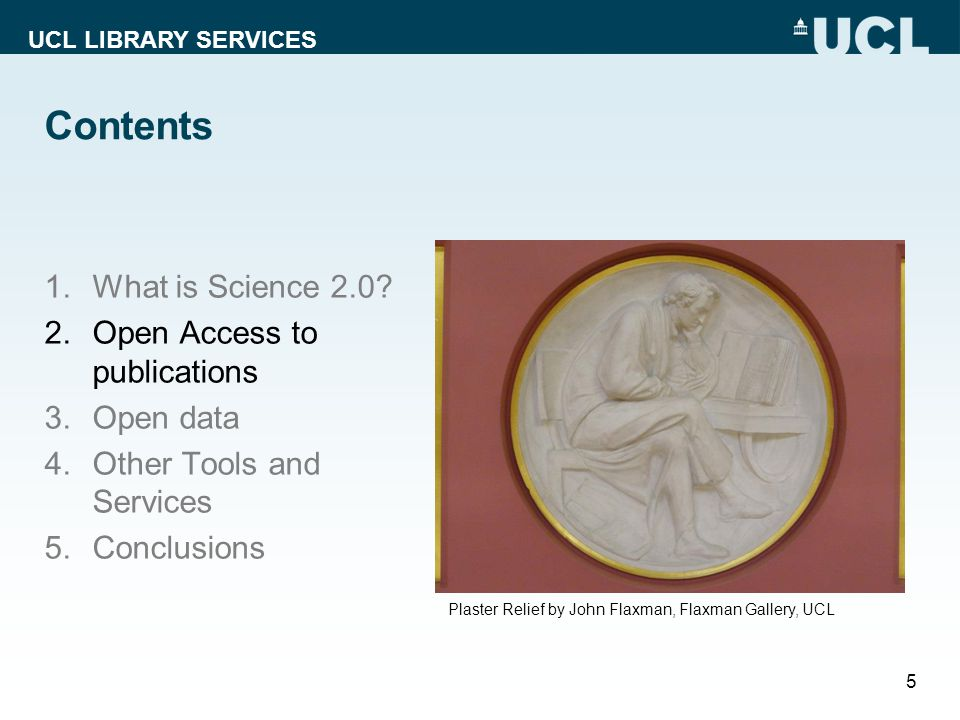 UCL LIBRARY SERVICES Contents 1.What is Science 2.0.