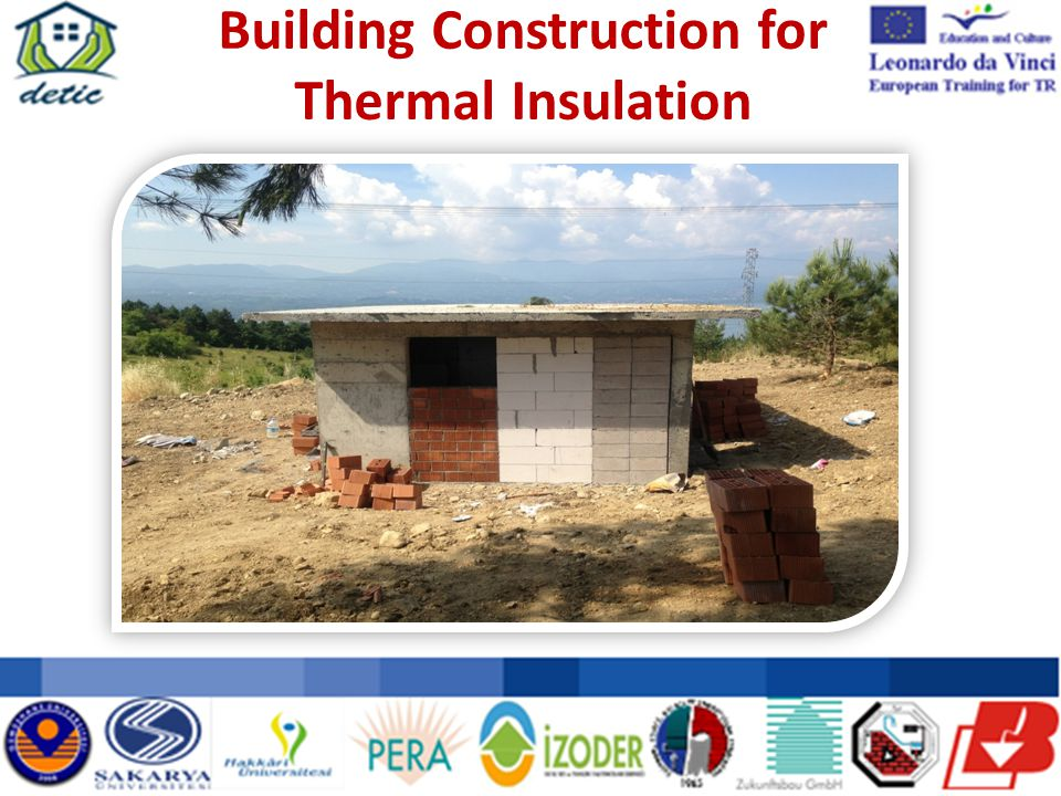 Building Construction for Thermal Insulation