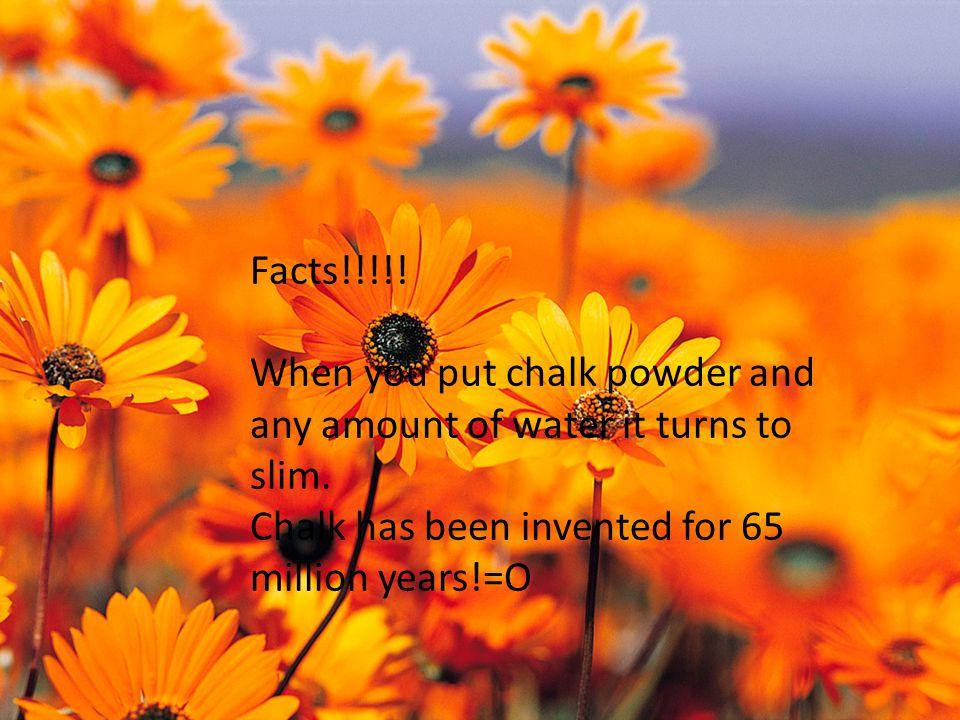 Materials: Bowl Chalk powder Water Water dropper Spoon Flour Materials: Bowl Chalk powder Water Water dropper Spoon Flour