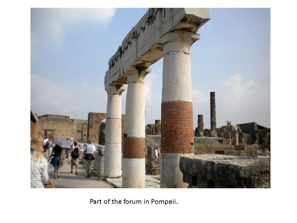 Part of the forum in Pompeii.