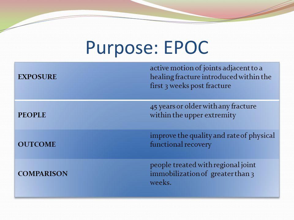 Purpose: EPOC