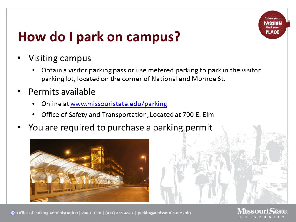 How do I park on campus.