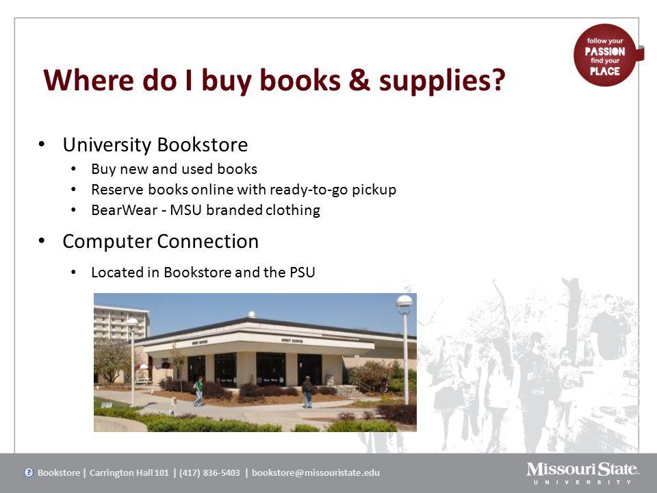 Where do I buy books & supplies.