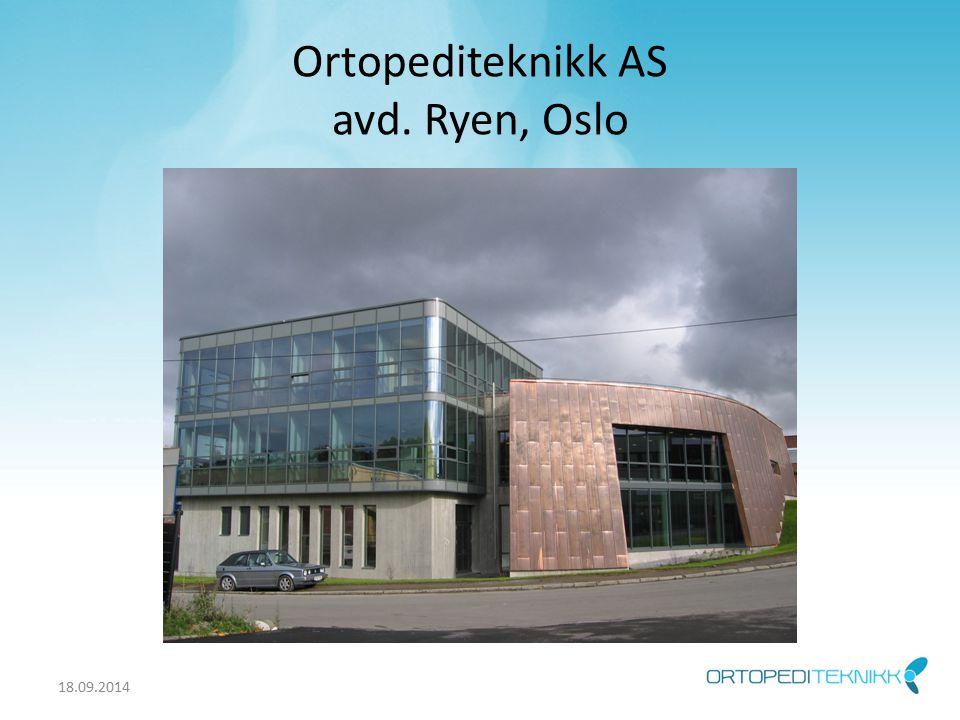 Ortopediteknikk AS avd. Ryen, Oslo 18.09.2014