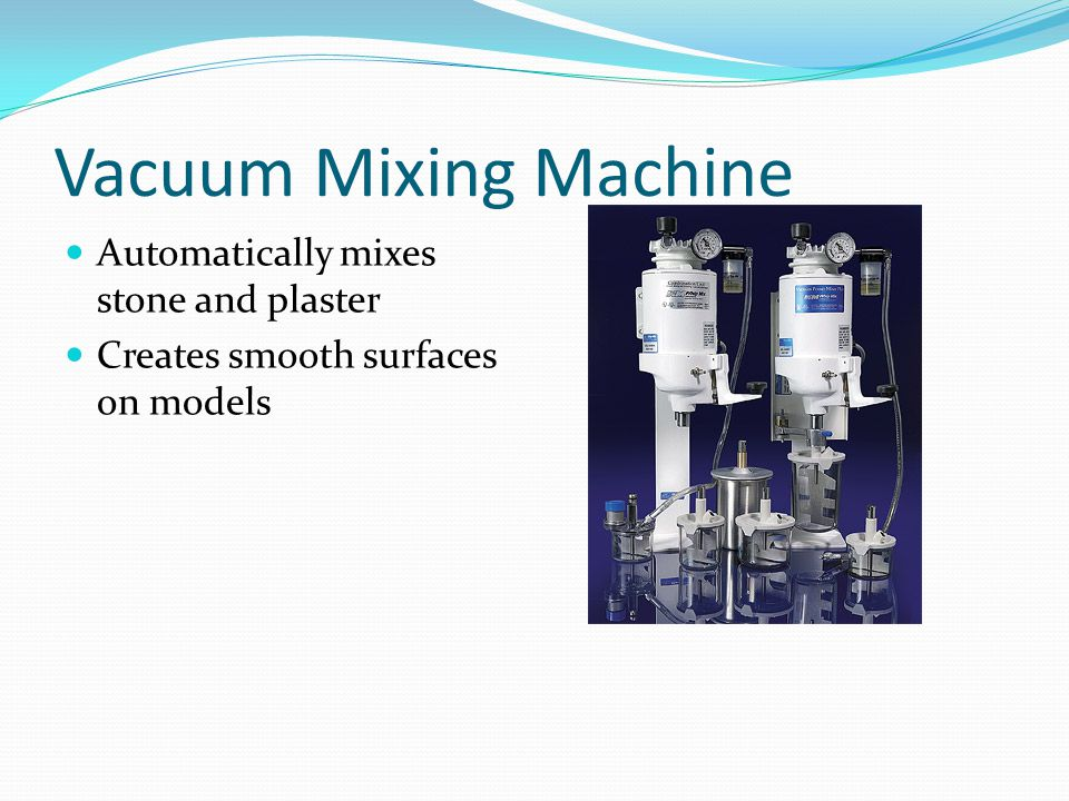 Vacuum Mixing Machine Automatically mixes stone and plaster Creates smooth surfaces on models