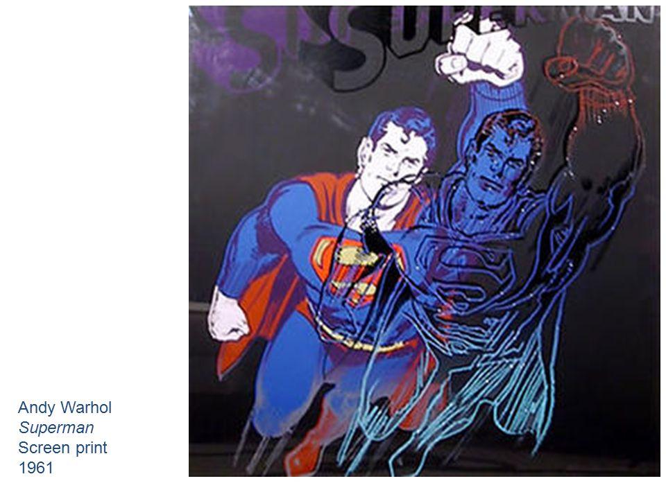 Andy Warhol Superman Screen print 1961