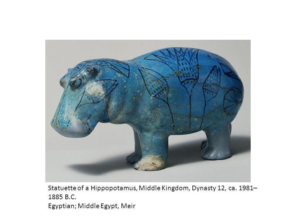 Statuette of a Hippopotamus, Middle Kingdom, Dynasty 12, ca.