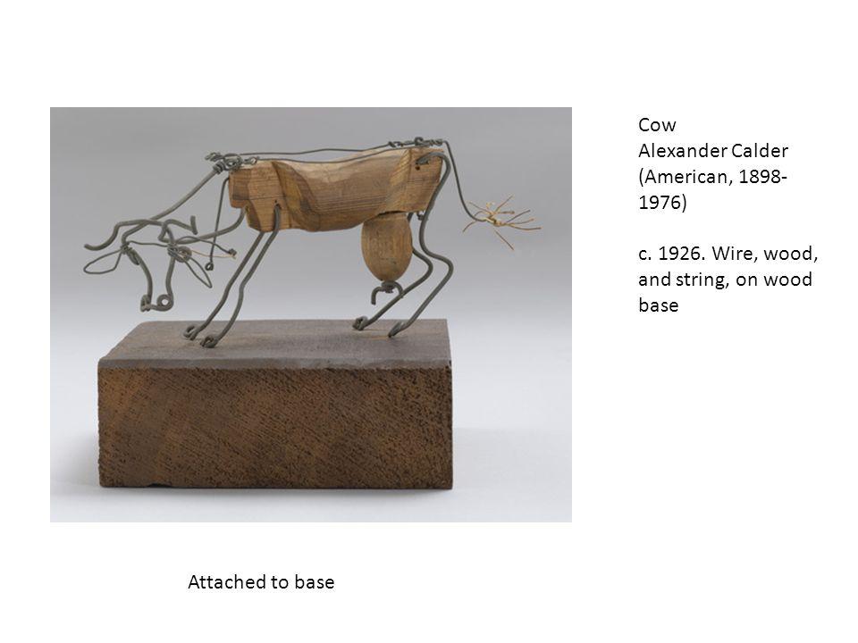 Cow Alexander Calder (American, 1898- 1976) c.1926.