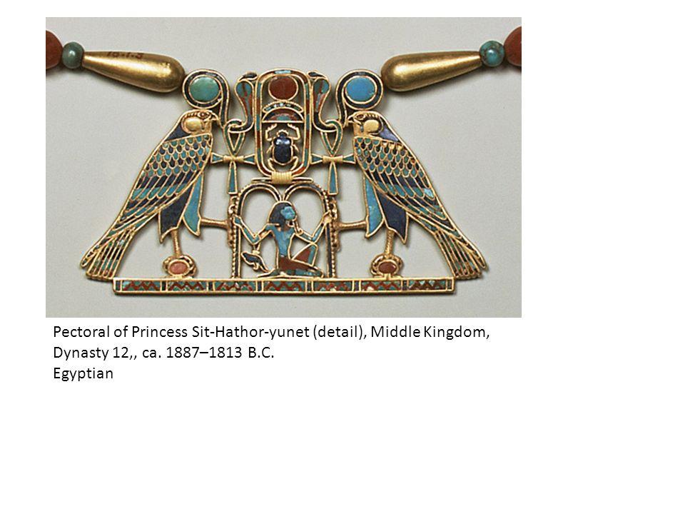 Pectoral of Princess Sit-Hathor-yunet (detail), Middle Kingdom, Dynasty 12,, ca.