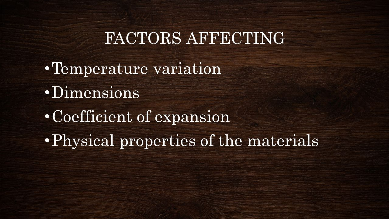 COEFFICIENT OF THERMAL EXPANSION (10 -6 / ⁰ C) Clay Brick & Brick work  5-7 Cement mortar & concrete  10-14 Sand lime bricks  11-14 Fly ash bricks  13-17