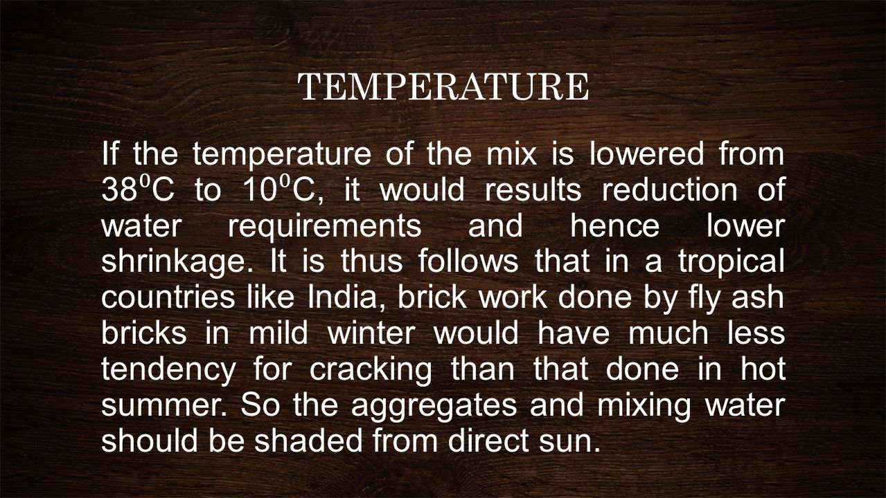 MEASURES FOR CONTROLLING CRACKS DUE TO SHRINKAGE On account of drying out of moisture content in building materials/ components.